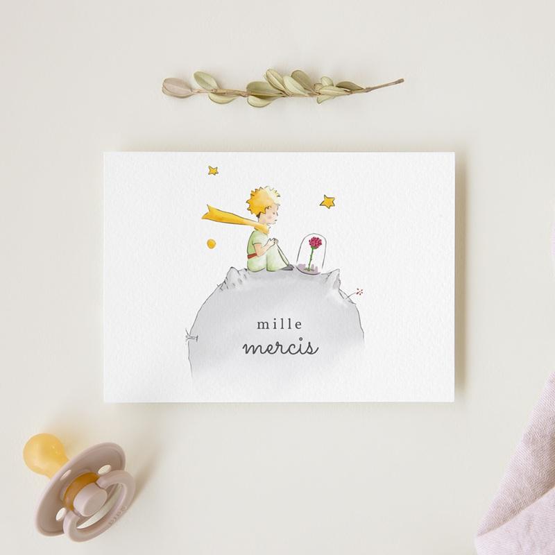 Carte de Remerciement Naissance La planète du Petit Prince gratuit