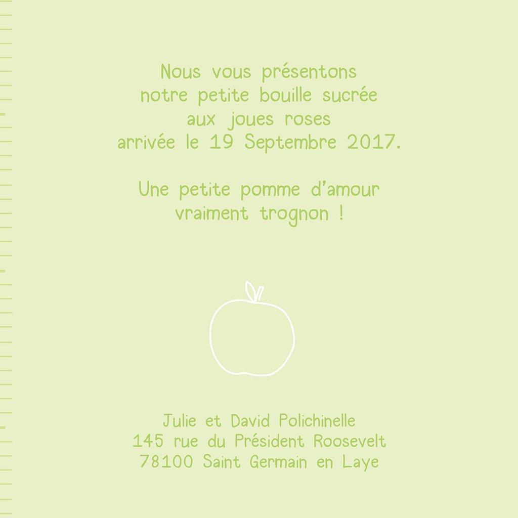 Faire-part de Naissance Comme 3 pommes