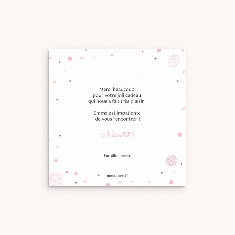 Carte de Remerciement Naissance Paillette pas cher