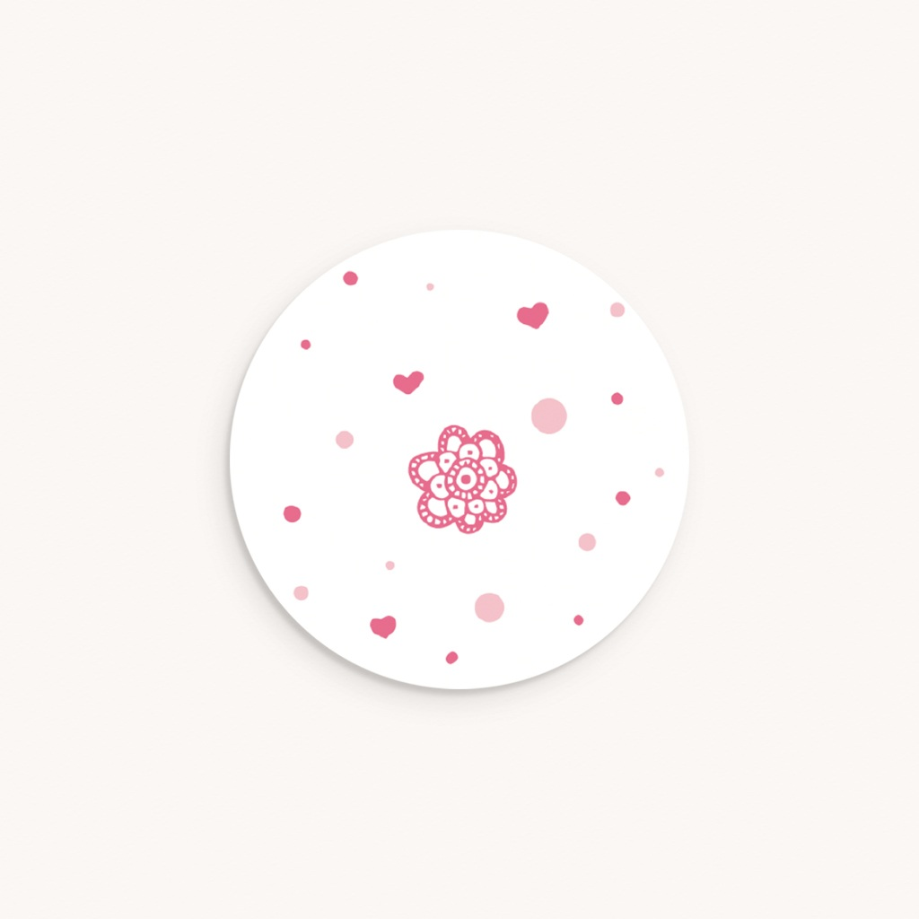 Sticker Enveloppe Baptême Paillette