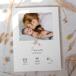 Affiche Déco Chambre Enfant Avec Amour, oiseaux beiges gratuit