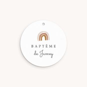 Étiquettes Cadeau Baptême Couronne enchantée, souvenir
