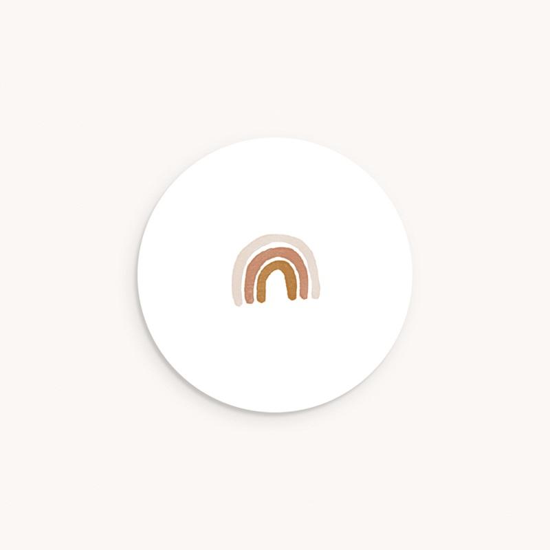 Sticker Enveloppe Baptême Couronne enchantée, 4,5 cm