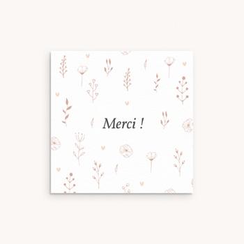 Carte de Remerciement Baptême Petit Herbier, 10 x 10