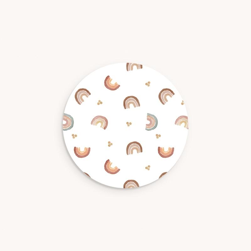 Sticker Enveloppe Baptême Couleur du Bonheur, 4,5 cm
