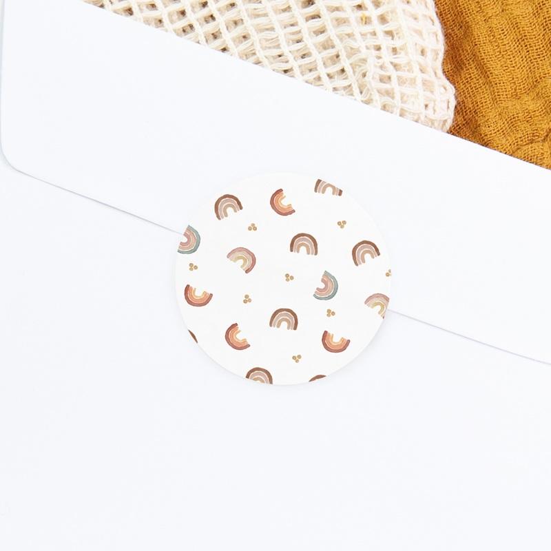 Sticker Enveloppe Baptême Couleur du Bonheur, 4,5 cm gratuit