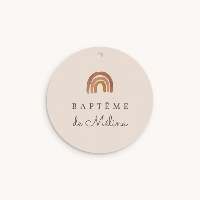 Étiquettes Cadeau Baptême Arc en ciel du bonheur, Souvenir