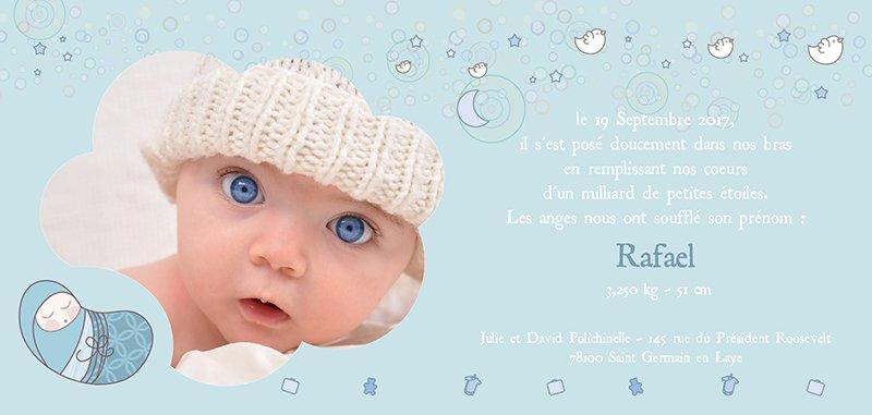 Faire-part de Naissance Poème gratuit