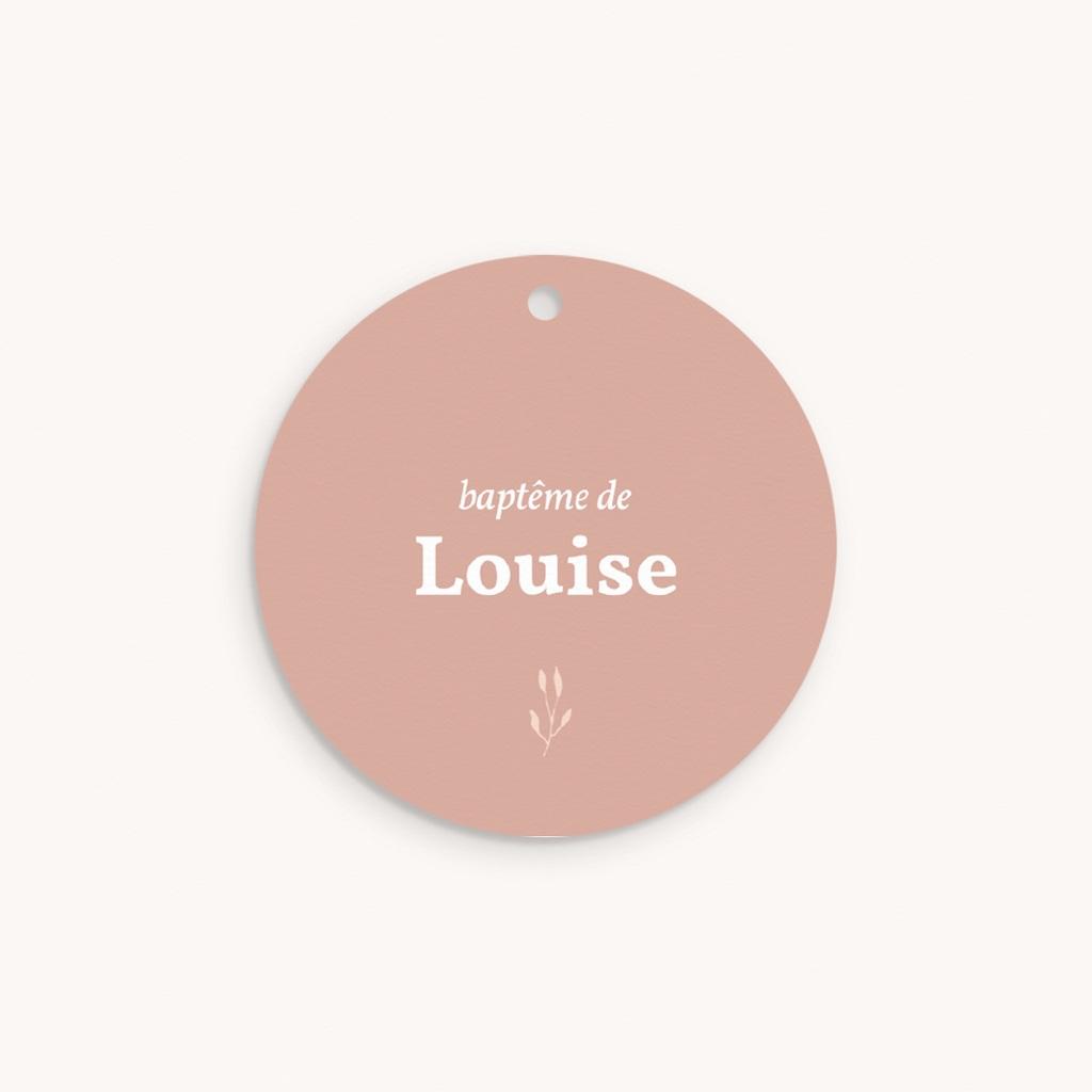 Étiquettes Cadeau Baptême Petit Herbier, Floral