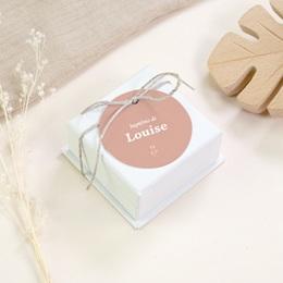 Étiquettes Cadeau Baptême Petit Herbier, Floral gratuit