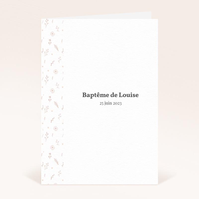 Livret de Messe Baptême Petit Herbier, couverture