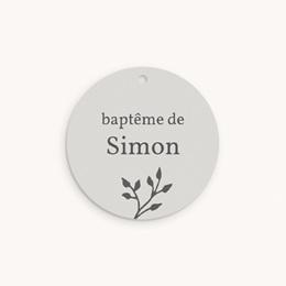 Étiquettes Cadeau Baptême Sweet chic, photo & brin