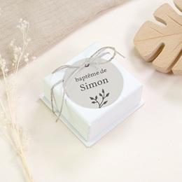 Étiquettes Cadeau Baptême Sweet chic, photo & brin gratuit