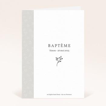 Livret de Messe Baptême Sweet chic, Couverture personnalisé