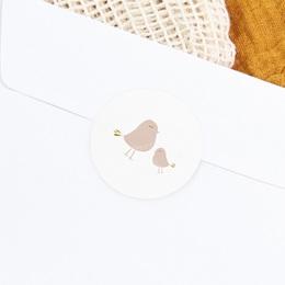 Sticker Enveloppe Baptême Avec Amour, Piou piou gratuit