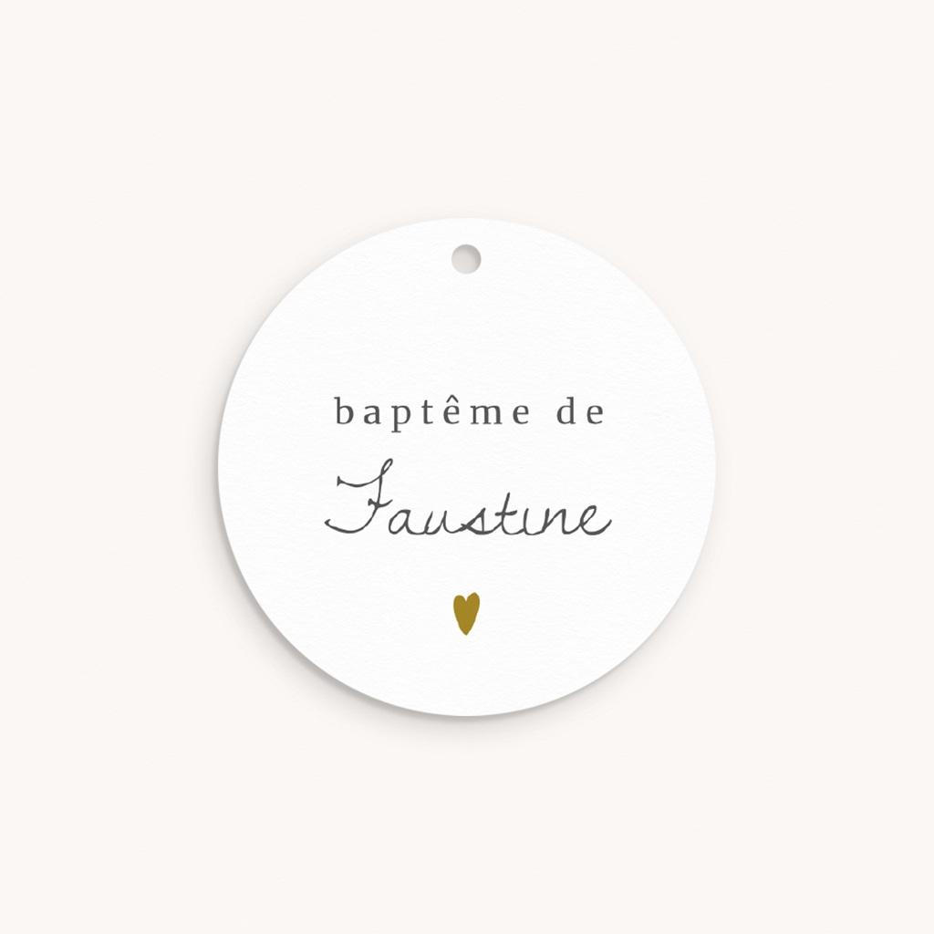 Étiquettes Cadeau Baptême Avec Amour Fille, souvenir