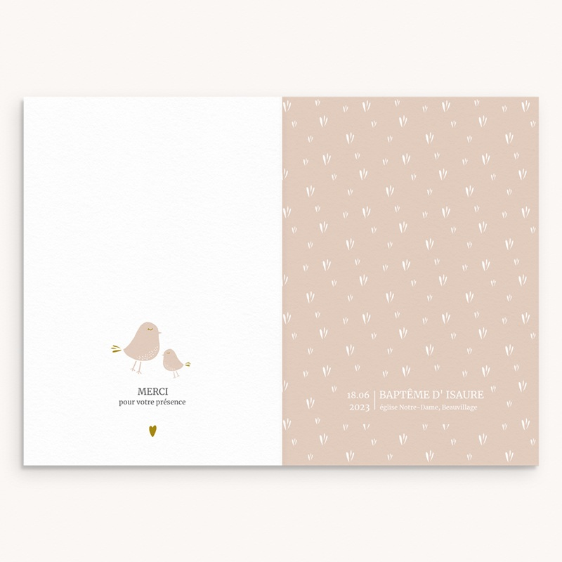 Livret de Messe Baptême Avec Amour Fille, couverture