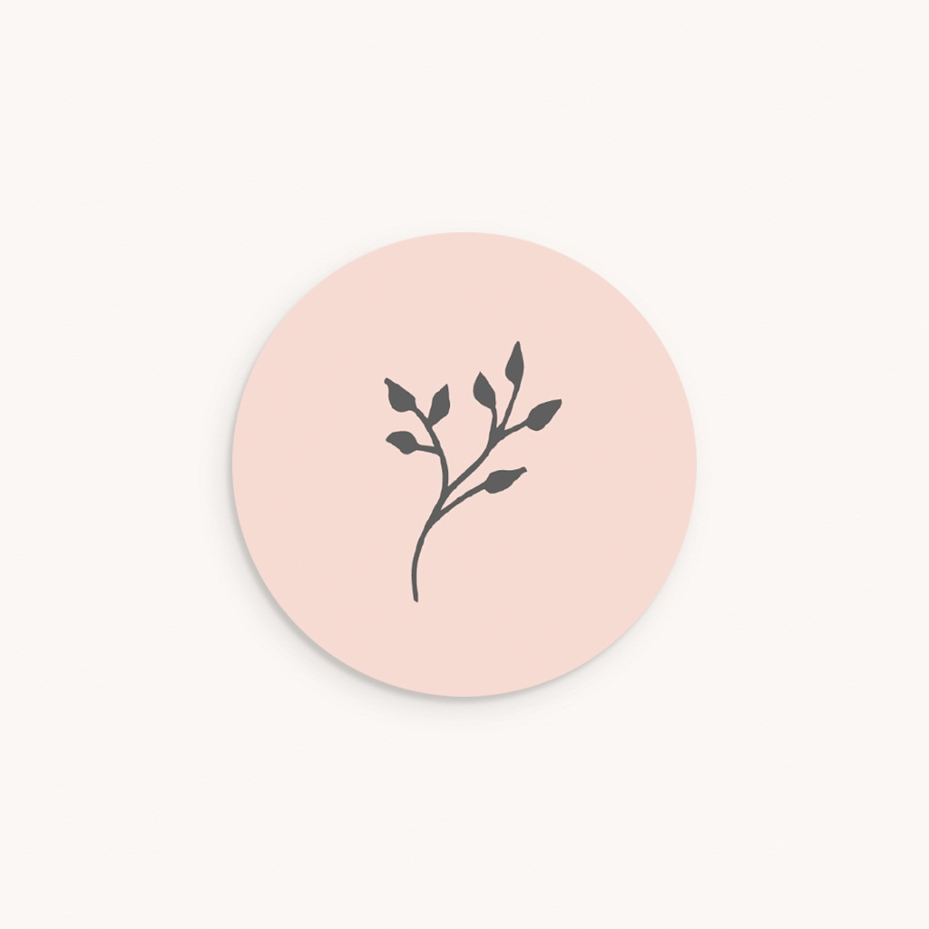 Sticker Enveloppe Baptême Sweet brin, fond rose