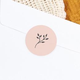 Sticker Enveloppe Baptême Sweet brin, fond rose gratuit