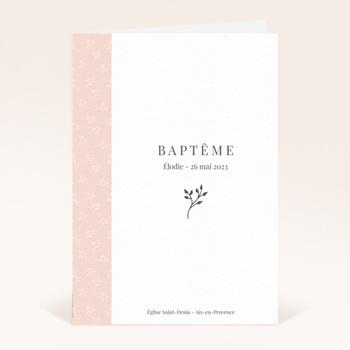 Livret de Messe Baptême Sweet Chic Rose, Couverture pas cher