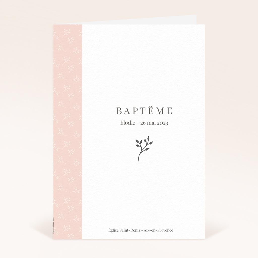 Livret de Messe Baptême Sweet Chic Rose, Couverture