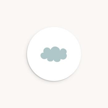 Sticker Enveloppe Baptême Septième Ciel Garçon pas cher
