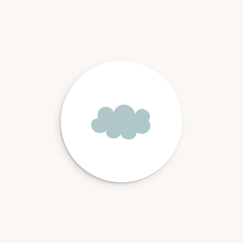 Sticker Enveloppe Baptême Septième Ciel Garçon