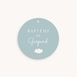 Étiquettes Cadeau Baptême Septième Ciel garçon, Souvenir