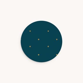 Sticker Enveloppe Baptême Céleste à pois personnalisé