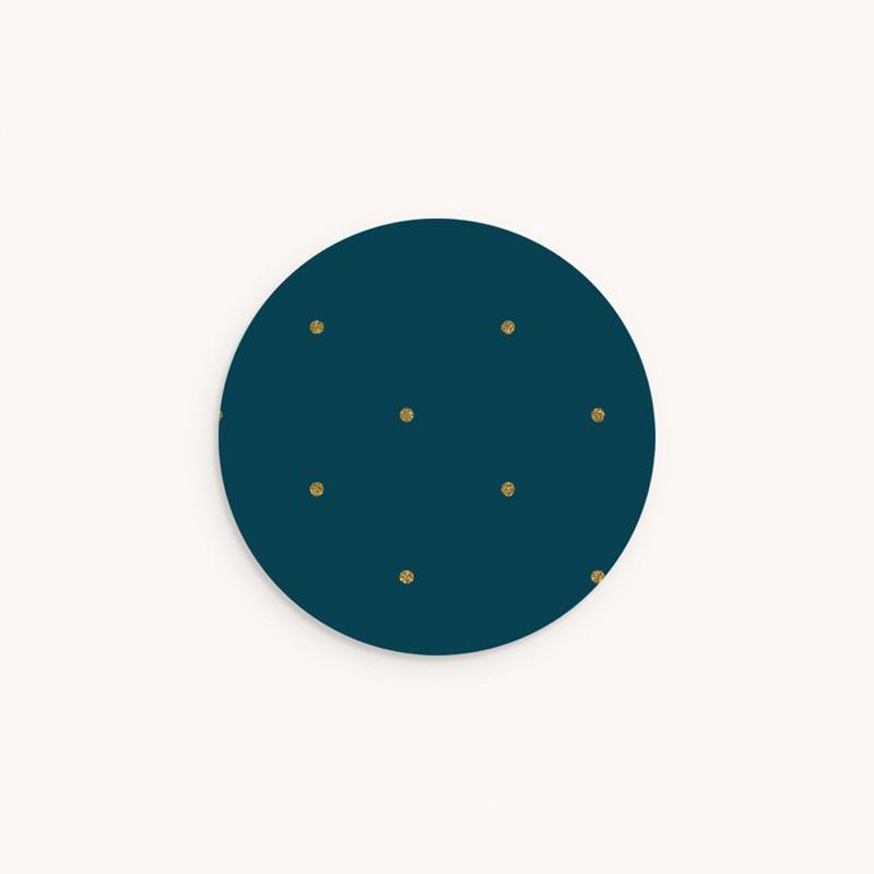 Sticker Enveloppe Baptême Céleste à pois