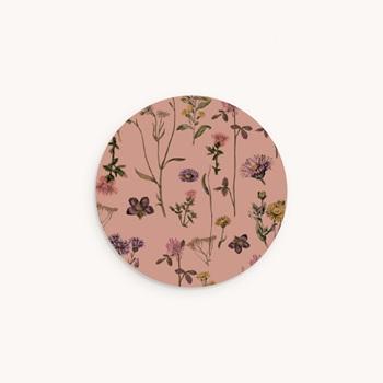 Sticker Enveloppe Baptême Botanic Floral pas cher