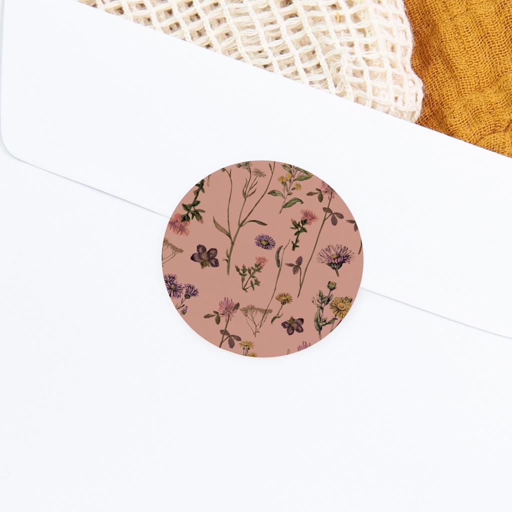 Sticker Enveloppe Baptême Botanic Floral gratuit
