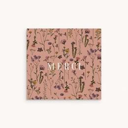 Carte de Remerciement Baptême Botanic Floral, accordéon