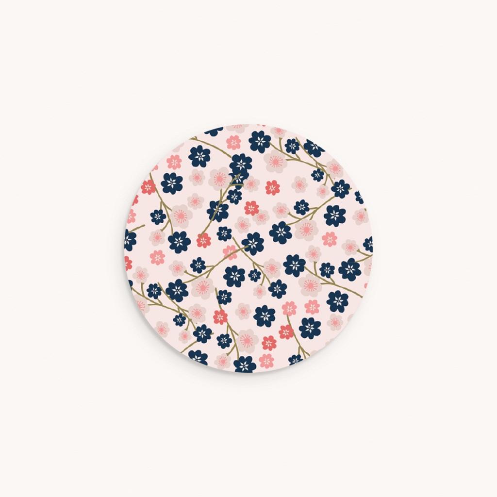 Sticker Enveloppe Baptême Bloom, 4,5 cm