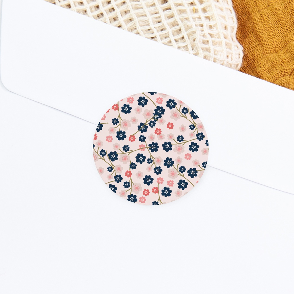 Sticker Enveloppe Baptême Bloom, 4,5 cm gratuit