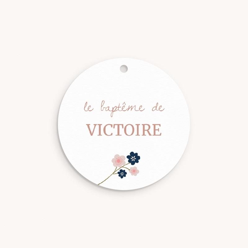 Étiquettes Cadeau Baptême Bloom, Souvenir