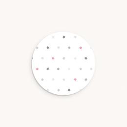 Sticker Enveloppe Baptême Motif étoiles, 4,5 cm