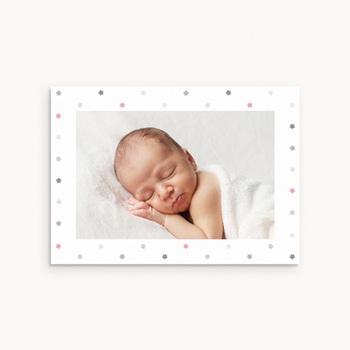 Carte de Remerciement Baptême Etoiles Fille personnalisé