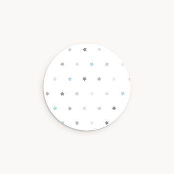 Sticker Enveloppe Baptême Motif étoilé, 4,5 cm original