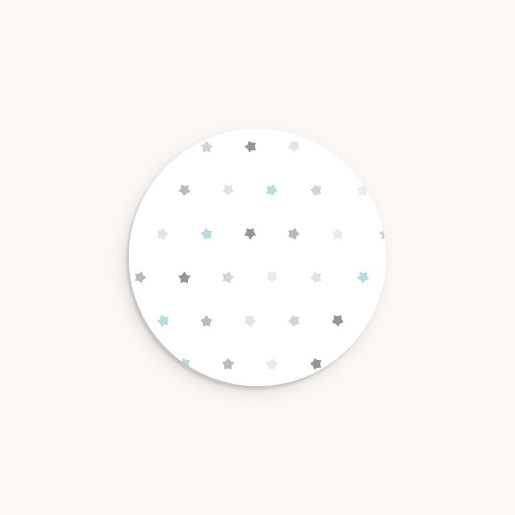 Sticker Enveloppe Baptême Motif étoilé, 4,5 cm