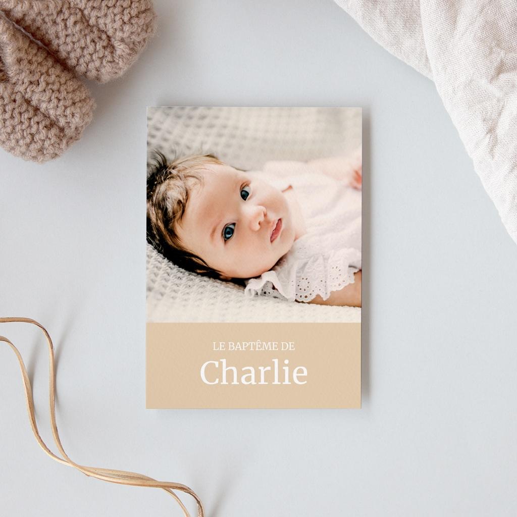 Carte de Remerciement Baptême nuage gratuit