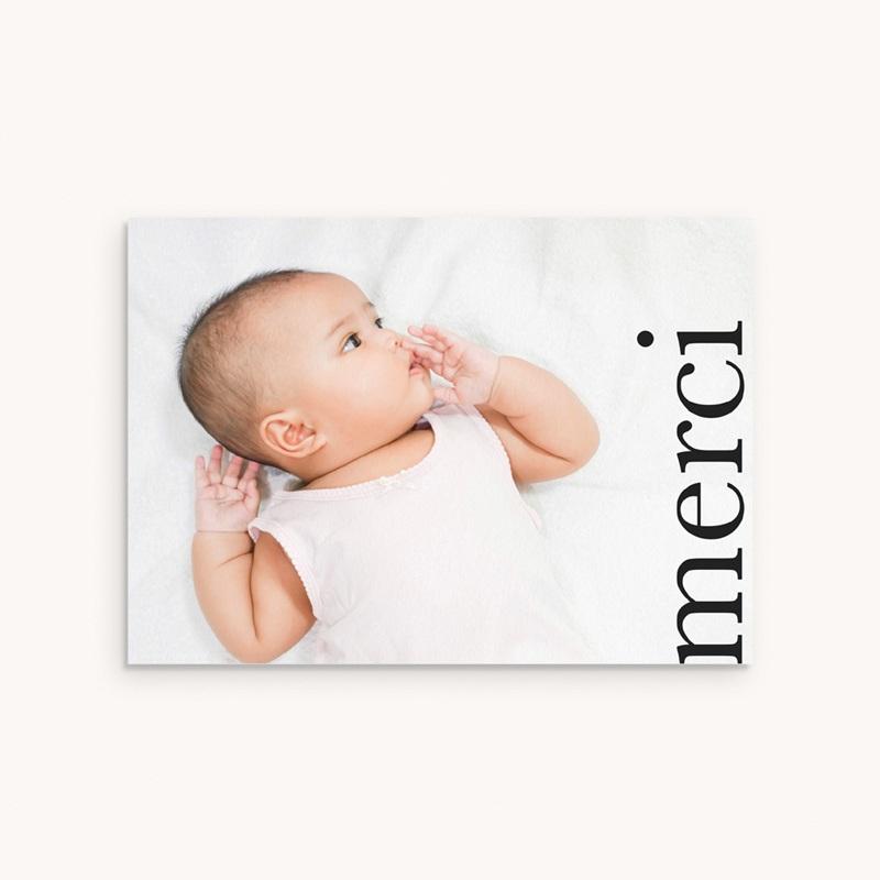 Carte de Remerciement Baptême Joli Jour, Photo