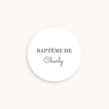 Sticker Enveloppe Baptême Harmonie, 4,5 cm personnalisé