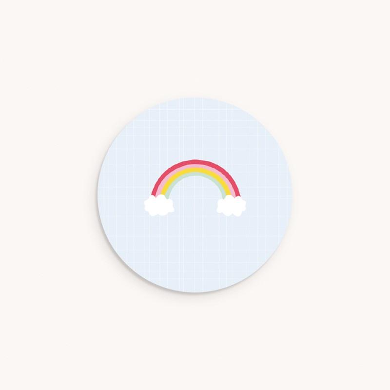 Sticker Enveloppe Baptême Happiness - Arc en ciel