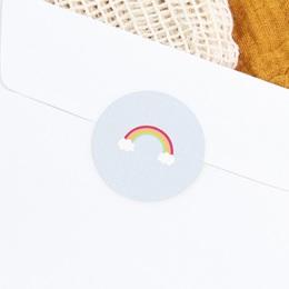 Sticker Enveloppe Baptême Happiness - Arc en ciel gratuit