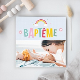 Faire-part de Baptême Happiness