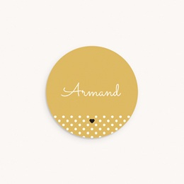 Sticker Enveloppe Naissance Hashtag, jaune moutarde