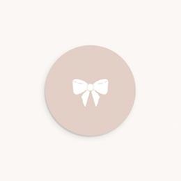 Sticker Enveloppe Baptême Mademoiselle, Noeud poudré