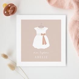 Faire-part de Baptême Petite Mademoiselle gratuit