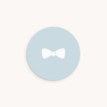 Sticker Enveloppe Baptême Petit Gentleman, sticker rond original